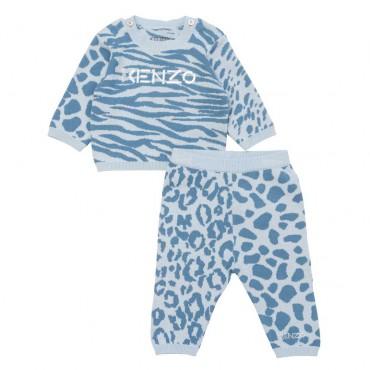 Dres niemowlęcy dla chłopca Kenzo 004815 - ekologiczne ubranka dla niemowlat Kenzo Kids - sklep internetowy euroyoung.pl