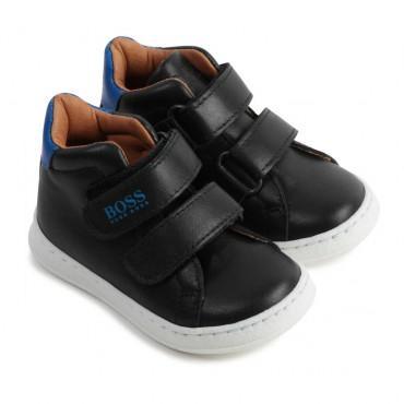 Wysokie buty chłopięce na rzepy Hugo Boss 004816