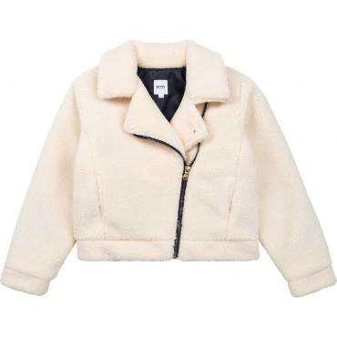 Krótka kurtka dziewczęca Hugo Boss 004817 - ekskluzywne kurtki i płaszcze dla dzieci - sklep internetowy euroyoung.pl
