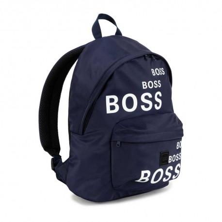 Granatowy plecak dla dziecka Hugo Boss 004818 - ekskluzywne plecaki szkolne i torby sportowe - sklep internetowy euroyoung.pl
