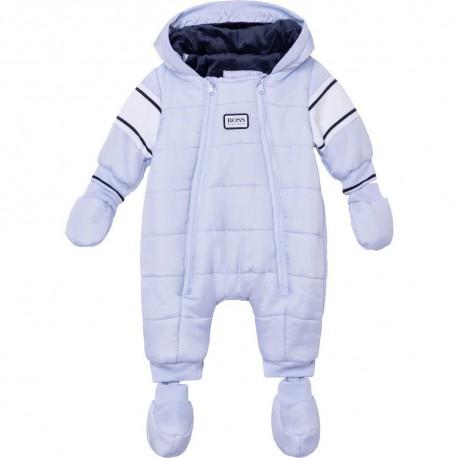 Niebieski kombinezon niemowlęcy Hugo Boss 004832 - ekskluzywne kombinezony dla dzieci - sklep odzieżowy euroyoung.pl