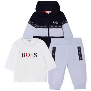 Dres niemowlęcy + koszulka Hugo Boss 004835 - gift box - internetowy sklep z ubraniami dla dzieci euroyoung.pl
