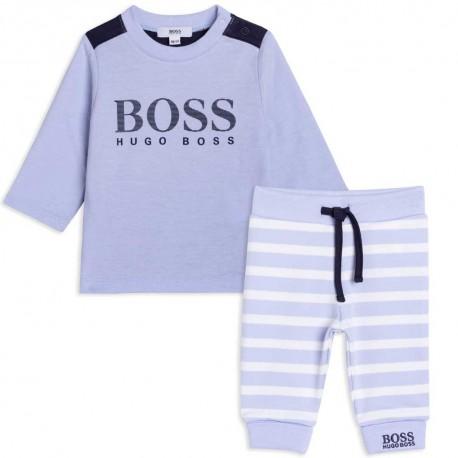 Koszulka + spodenki niemowlęce Hugo Boss 004836 - ekskluzywny prezent dla noworodka - sklep z ubraniami dla dzieci euroyoung.pl