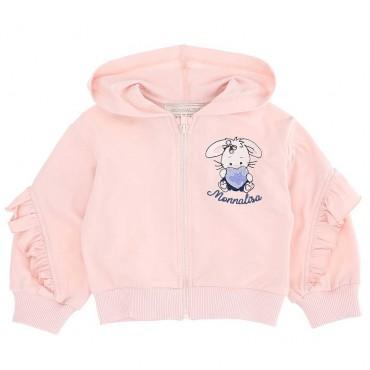 Różowa bluza dla dziewczynki Monnalisa 004838