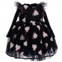 Granatowa sukienka niemowlęca Monnalisa 004839