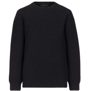 Granatowy sweter dla chłopca Emporio Armani 004842