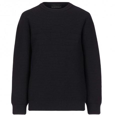 Granatowy sweter dla chłopca Emporio Armani 004842 - ekskluzywne bluzy i swetry dla dzieci - sklep intrtnetowy.