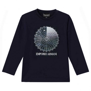 Granatowa koszulka chłopięca Emporio Armani 004843