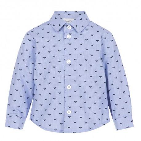 Niebieska koszula niemowlęca Emporio Armani 004844 - eleganckie ubrania dla chopców - sklep internetowy euroyoung.pl