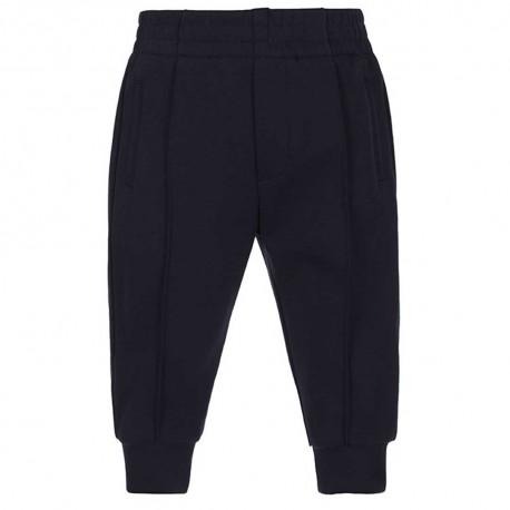 Granatowe spodnie niemowlęce Emporio Armani 004846 - klasyczna elegancja dla chłopca - sklep internetowy z ubraniami dla dzieci