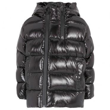 Czarna kurtka puchowa dla chłopca Armani 004848