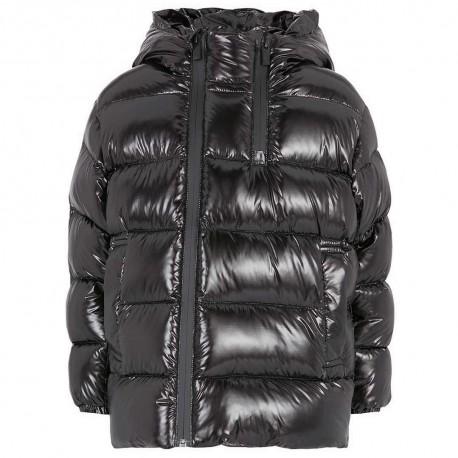 Czarna kurtka puchowa dla chłopca Armani 004848 A - zimowe kurtki dla dzieci - sklep internetowy euroyoung.pl