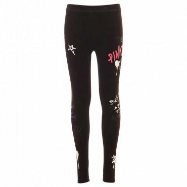 Czarne legginsy dziewczęce Pinko Up 004878 - sklep z ekskluzywnymi ubraniami dla zieci i młodzieży euroyoung.pl