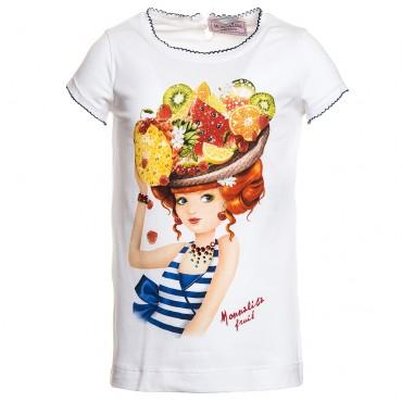 Koszulka MONNALISA 117613S7 7202 0099, euroyoung, luksusowa odzież dla dzieci.