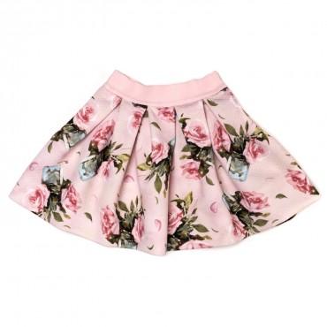 Spódnica dla dziewczynki w kwiaty Monnalisa 116711