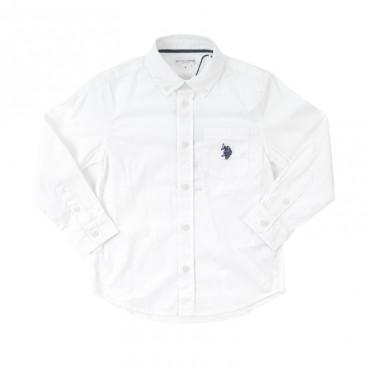 Biała koszula dla chłopca U.S. Polo ASSN 25110