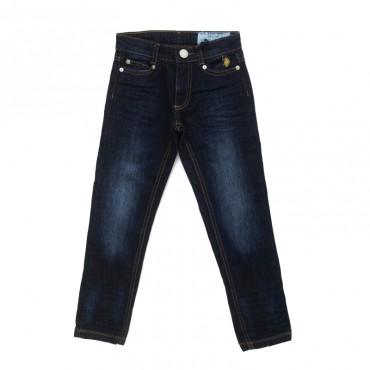 Granatowe jeansy chłopięce U.S. Polo ASSN 26721
