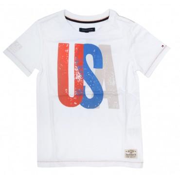 T-shirt chłopięcy USA Tommy Hilfiger E557111914