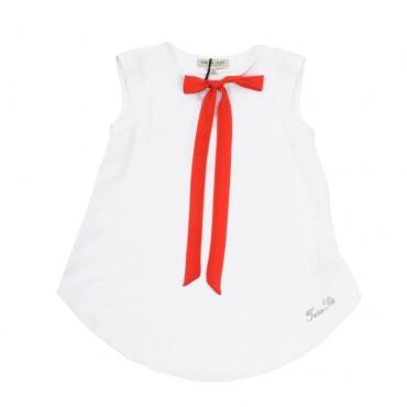 Dziewczęca bluzka z wiązaną szarfą Twin Set GS6264