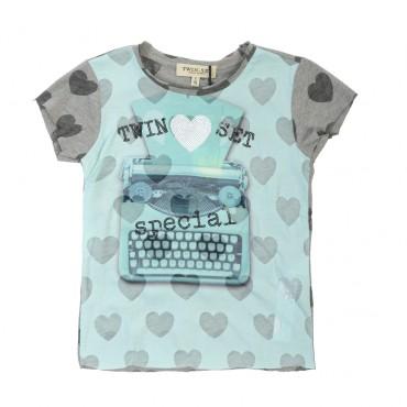 Ekskluzywna koszulka dla dziecka, TWIN SET GS62DP