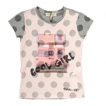 Ekskluzywna koszulka dla dziecka, TWIN SET GS62DN, euroyoung.