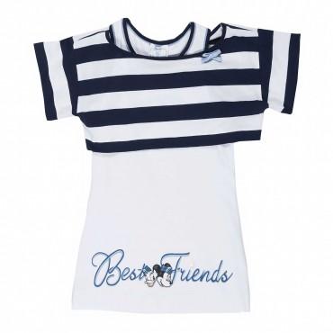 Komplet dziewczęcy top i t-shirt Monnalisa 661604S