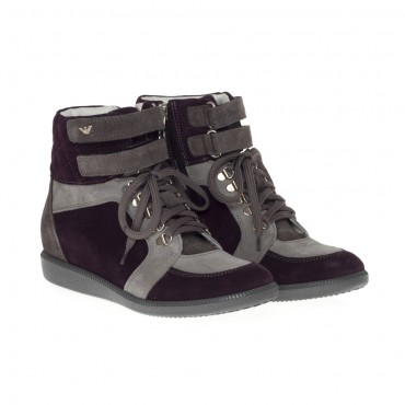 Oryginalne, ekskluzywne buty dla dziecka Armani Junior U3507 LH D5.