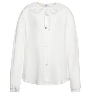 Biała bluzka dla dziewczynki Monnalisa 118306