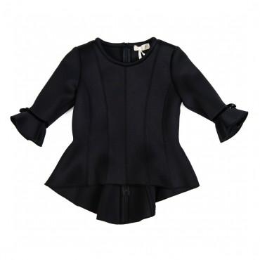 Czarna bluzka Monnalisa 000015 A