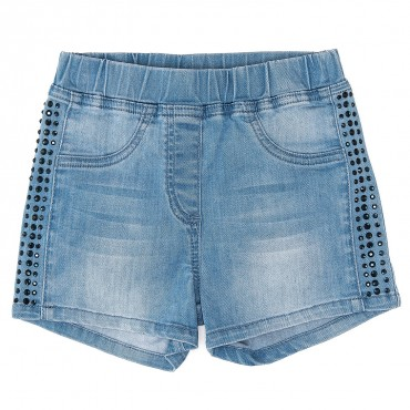 Dziecięce szorty z jasnego jeansu Monnalisa 667405