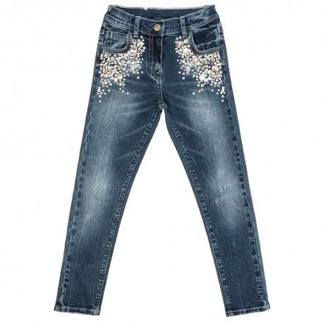 Jeansy z kryształami Monnalisa 000051 A