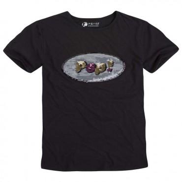 Czarny t-shirt dziewczęcy Pop Pepe Jeans 000063