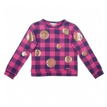 Dziewczęca bluza w kratę Liu Jo 000097