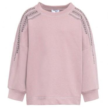 Bluza dla dziewczynki z dżetami Monnalisa 000124