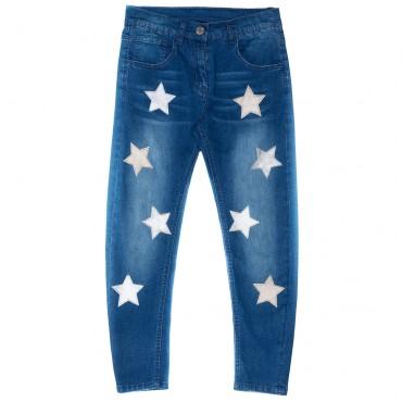 Jeansy dla dziecka z gwiazdami Monnalisa 000207