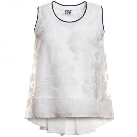 Biały top Monnalisa 667300 A