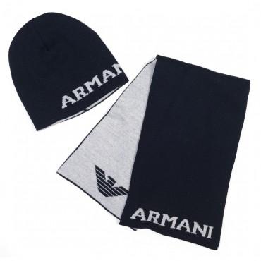 Czapka i szalik dla dziecka Armani Junior 000265