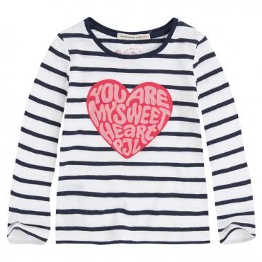 T-shirt dziewczęcy z sercem Pepe Jeans 000298