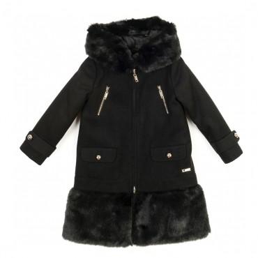 Czarny płaszcz młodzieżowy Twin Set 000332