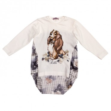 Koszulka dziecięca z pieskiem Monnalisa 116619SU