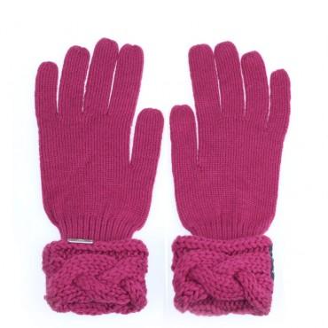 Rękawiczki różowe ARMANI JUNIOR 000373 A