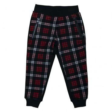 Spodnie w kratę Monnalisa przód 000538