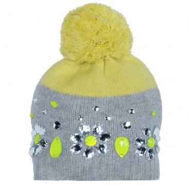Dziecięca czapka z dekoracją Monnalisa 000567