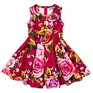 Sukienka z neoprenu Monnalisa przód 0096