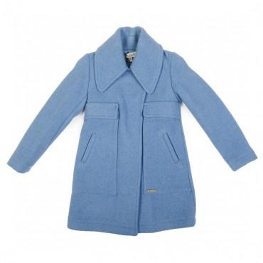 Niebieski płaszcz dla dziewczynki Twin Set 000611