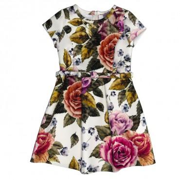 Sukienka w kwiaty Monnalisa 0184