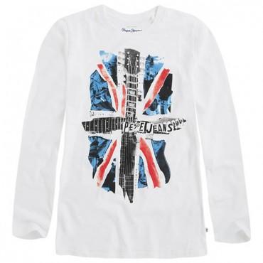 Chłopięca koszulka z nadrukiem Pepe Jeans PB500556