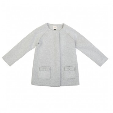 Szary płaszcz Armani Junior 000629 przód