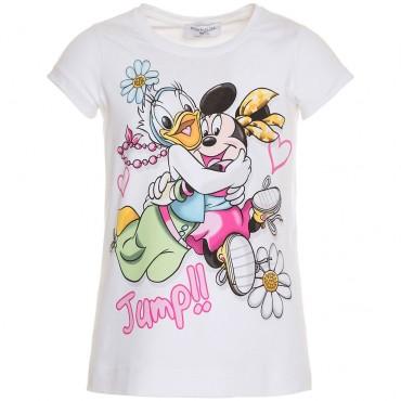 T-shirt dziewczęcy z nadrukiem Monnalisa 000697