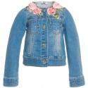Kurtka dla dziecka z kwiatami Monnalisa 000930